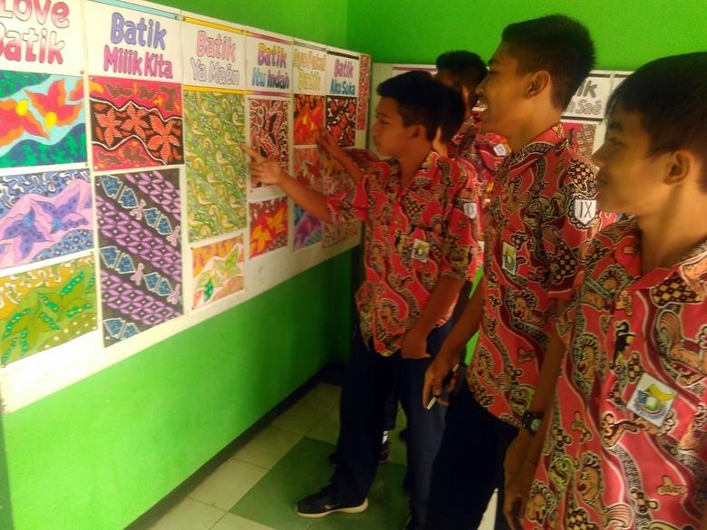 Desain Motif Batik Karya Pelajar Dipamerkan Suara Banyumas