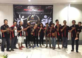 TASYAKURAN : Komunitas Toyota Agya Club Chapter Ngapak R menggelar tasyakuran ulang tahun ke empat, Minggu (22/9) malam. (20) (SM/Ryan Rachman)
