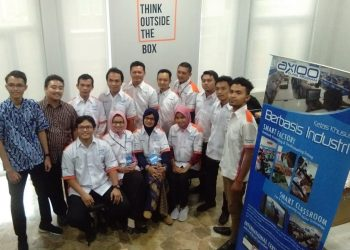 PELATIHAN AXIOO:Sejumlah dosen SWU saat mengikuti kegiatan pelatihan Axioo di Bandung.(SM/dok)