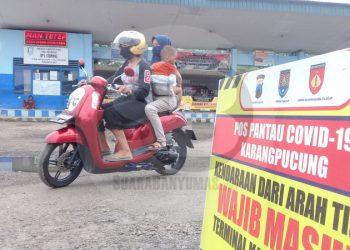 SEPI: Suasana Terminal Karangpucung, Kabupaten Cilacap tampak sepi pada Kamis (28/5).