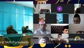 HALALBIHALAL: Keluarga besar IAIN Purwokerto menggelar halal bi halal secara virtual, pada Idul Fitri kali ini, (SB/dok)