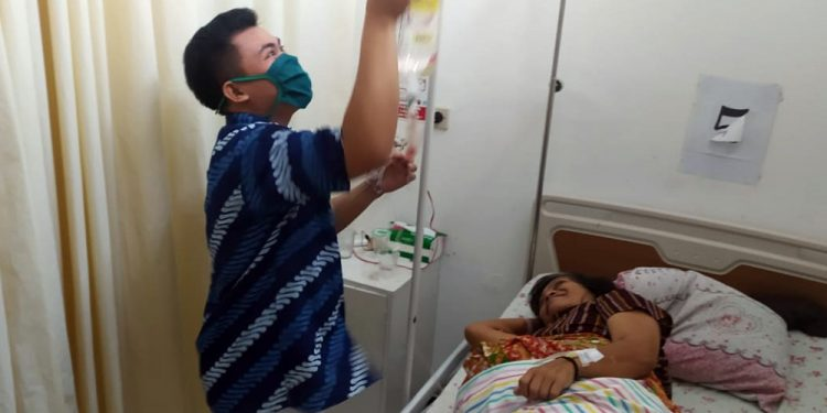 PERAWATAN: Pasien tumor intraabdomen mulai menjalani perawatan di RSI Banjarnegara, baru-baru ini. (SB/dok)