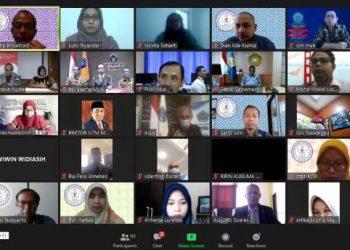 WEBINAR LLDIKTI:Suasana kegiatan webinar sosialisasi Merdeka Belajar: Kampus Merdeka yang diselenggarakan oleh LLDikti Wilayah VI, Sabtu (29/6) lalu.(SM/dok)