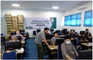 UJI COBA: Pelaksanaan uji coba SSE-UMPTKIN 2020, berlangsung di IAIN Purwokerto, beberapa waktu lalu. (SB/dok)