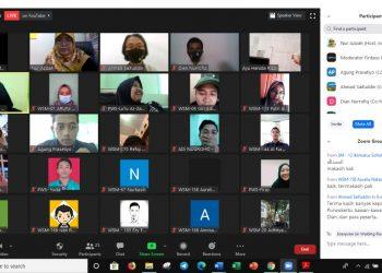 """Tangkapan layar dari Webinar Self Management dalam Menghadapi Era Adaptasi Kebiasaan Baru"""" yang digelar HMJ BKI IAIN Purwokerto, Senin (24/8)."""