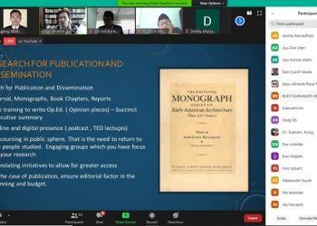 WEBINAR: Tangkapan layar, kegiatan webinar Fakultas Dakwah IAIN Purwokerto yang digelar secara daring. (SB/dok)