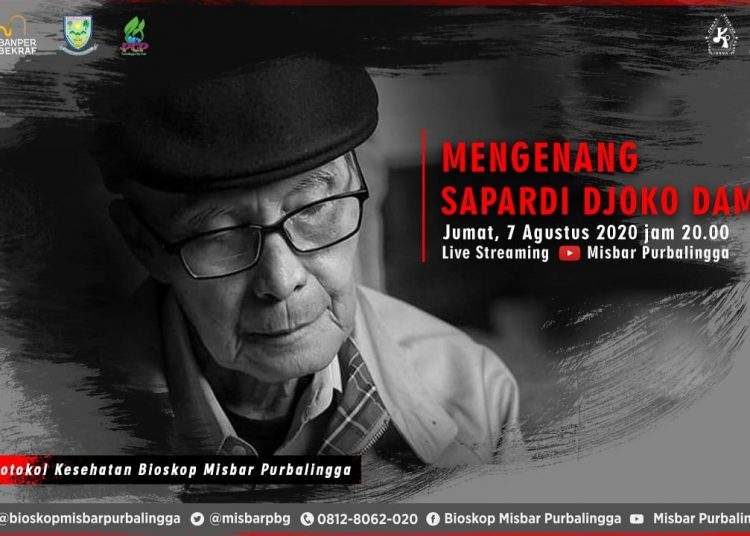 Ilustrasi: Poster even Mengenang Sapardi Djoko Damono di kanal Youtube Bioskop Misbar Purbalingga. (SB/dok)