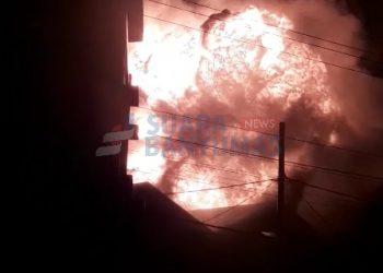 Kebakaran UPT Logam